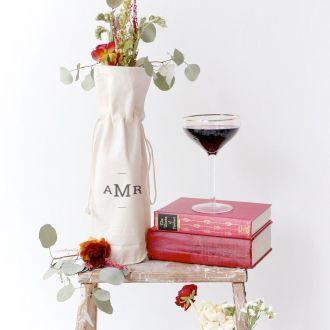 Embalagem de Algodão para garrafa - impressão em serigrafia 18 x 40 -  Linha Gift  6063