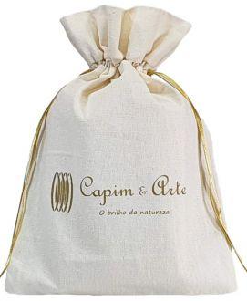 Embalagem de algodão personalizada 20x30 - impressão em serigrafia  - Linha Classic 7138