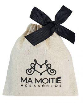 Embalagem de algodão personalizada para lembrancinhas - 08x12 - fechamento fita de gorgurão - impressão em serigrafia - Linha Classic 7137