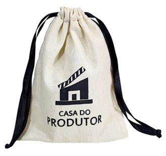 Embalagem de algodão personalizado 15 x 20 -  impressão da logomarca em serigrafia  - Linha Classic 7197
