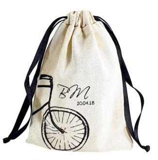 Embalagem de algodão personalizado 20 x 30-  impressão da logomarca em serigrafia  - Linha Classic  7191