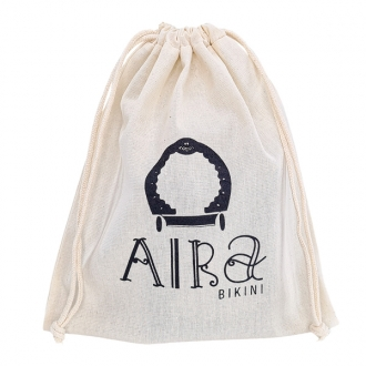 Embalagem de Algodão Cru Borda Simples 20x35 Personalizado em Serigrafia 1 Cor