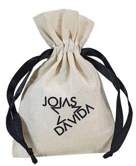 Embalagem de algodão personalizado para joias  10x15  -  impressão em serigrafia - Linha Classic 4156