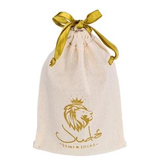 Embalagem de algodão  personalizado para joias 12 x 18 -  impressão em serigrafia   -  Linha Classic 4061