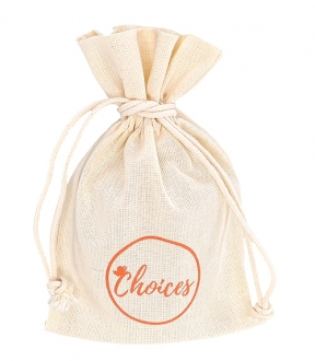 Embalagem de algodão personalizado para joias - 15 x 20 - impressão em serigrafia -   Linha Classic 6016