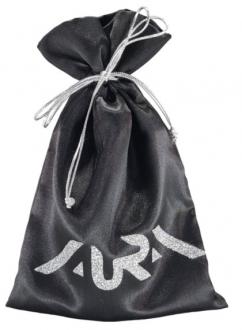 Embalagem de Cetim Charmouse Borda Dupla 08x12 Personalização em PS Gliter Fechamento com Cordão Metalizado