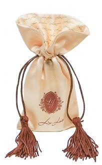Embalagem de cetim 08x12 - borda gola personalizada  - fechamento com pingente de seda-  Linha Premium 7003