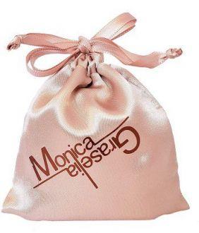 Embalagem de cetim personalizado para joias - 10 x 15  - Impressão Hot-Stamping Italiano Cobre -  Linha Exclusive 6209