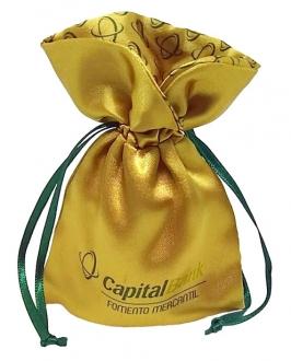Embalagem de cetim borda gola colorida personalizada 08x12-   Linha Luxo 7036