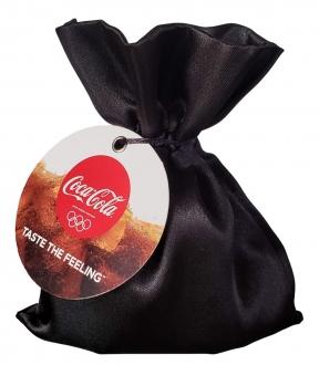 Embalagem de cetim para brindes - 06x08 - tag de papel personalizada-  Linha Classic 1315