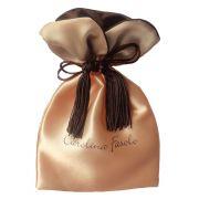 Embalagem de cetim Premium 10x15 - Borda gola colorida e pingente de seda - impressão em sublimação - Código 1210