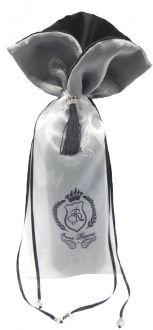 Embalagem de organza impressão sublimática - Borda gola - Fechamento pingente de seda 18x40 - Linha Premium 1669