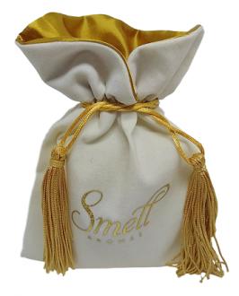 Embalagem de veludo personalizado para joias  08x12 - Impressão Hot-Stamping Italiano - borda gola de cetim - pingente de seda - Linha Premium 1113