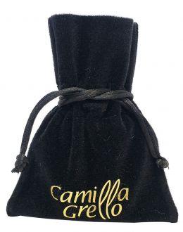 Embalagem de veludo com logomarca impressa para joias - 06 x 08 - Impressão Hot-Stamping Italiano - Linha Classic 6361