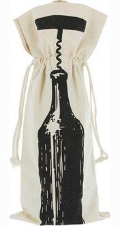 Embalagem para garrafa de algodão Personalizada 18x40 - impressão em Serigrafia - Linha Classic 708