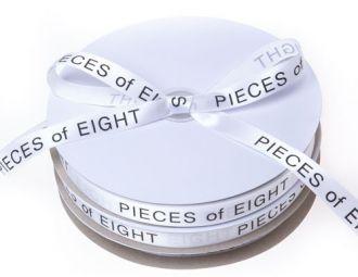 Fita de cetim personalizada 10mm  - Impressão Foil Metalizado ou serigrafia 1 cor - Preço por metro - Linha cristal 4519