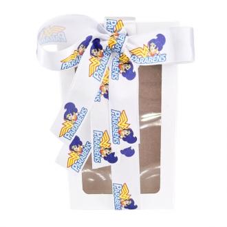 Fita de cetim personalizada 22mm - impressão colorida  - Preço por metro - Linha cristal  9511
