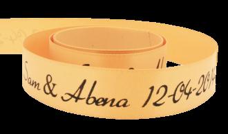 Fita de cetim personalizada 30mm  - Impressão Foil Metalizado ou serigrafia 1 cor - Preço por metro - Linha cristal 1505