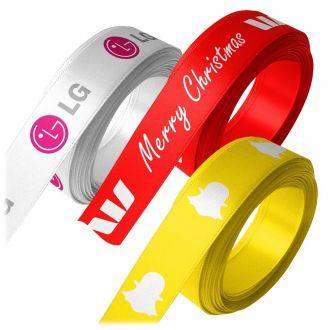 Fita de cetim personalizada 30mm  - Impressão Foil Metalizado ou serigrafia 1 cor - Preço por metro - Linha cristal 4547
