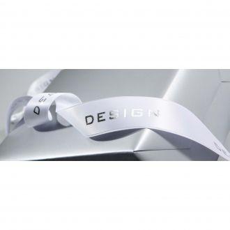 Fita de cetim personalizada 35mm  - Impressão Foil Metalizado ou serigrafia 1 cor - Preço por metro - Linha Cristal  4536