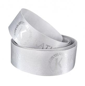 Fita de cetim personalizada 35mm  - Impressão Foil Metalizado ou serigrafia 1 cor - Preço por metro - Linha cristal 9203