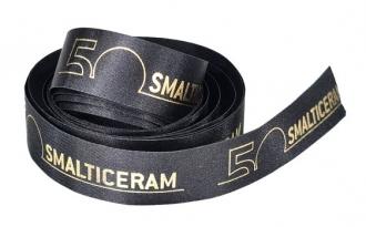 Fita de cetim personalizada 35mm  - Impressão Foil Metalizado ou serigrafia 1 cor - Preço por metro - Linha cristal 9204
