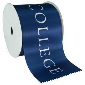 Fita de cetim personalizada 50mm  - Impressão Foil Metalizado ou serigrafia 1 cor - Preço por metro - Linha cristal  4505