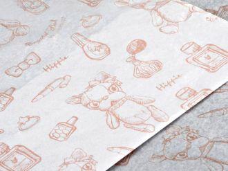 Papel de Seda Personalizado 20g/m - Tamanho 50 x 70 - Impressão em 1 cor - Linha paper  7708