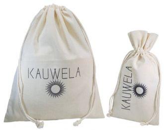 Kit de embalagem personalizada de Algodão - 1 saquinho borda dupla 10x15 - 1 saquinho borda simples 20x30 -  Linha Premium  990