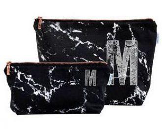 Kit Necessaire de nylon 600 impressão digital - ziper de metal - Tamanho 15x25 e 12x21 -  Linha Gift  7303