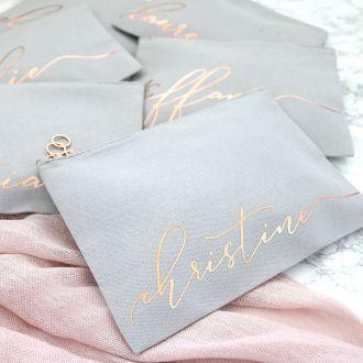 Necessaire de lonita - Impressão Hot-Stamping Italiano - ziper de metal - Tamanho 18 x 28 -  Linha Gift  6231