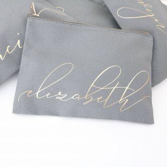 Necessaire de lonita - Impressão Hot-Stamping Italiano - ziper de metal - Tamanho 21 x 32 -  Linha Gift 7363