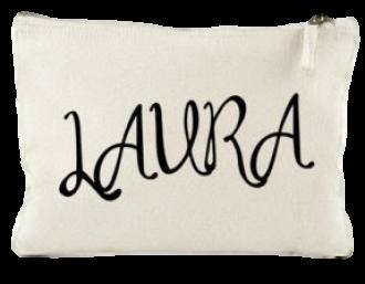 Necessaire de lonita personalização em serigrafia - ziper de poliéster - Tamanho 10 x 12  -  Linha Gift  7374
