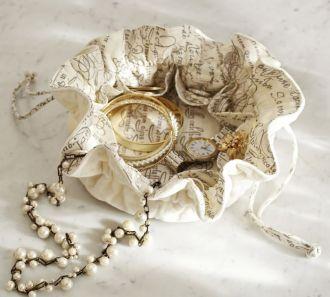 Organizador de bijoux com divisórias - impressão colorida-  Linha Gift  7256