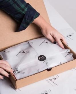 Papel de Seda 20g/m 50x70 Personalização em Flexografia 1 Cor