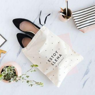 Saco de algodão para Sapato 25 x 35 -  impressão da logomarca em serigrafia  - Linha Classic  6049