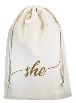 Saco de algodão  personalizado para chinelos 20x35 -  impressão em serigrafia  -  Linha Classic 4359
