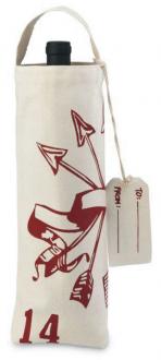 Sacola para garrafa de algodão 18x35 - personalização em serigrafia - Linha Exclusive  1813
