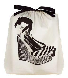 Saquinho de algodão personalizado para sapato - 30 x 40 - impressão em serigrafia - Linha Classic 7068