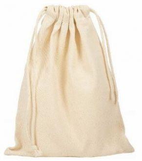 Saquinho de algodão para joias  - Sem impressão 08x12 - Linha Classic 2109