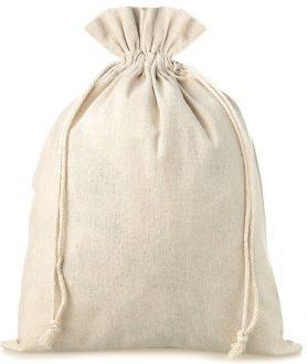 Saquinho de algodão - borda simples sem impressão 25x35 - Linha Classic 2209