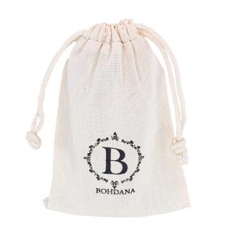 Saquinho de algodão paara joias 08x12 -  impressão da marca serigrafia - Linha Classic 4168