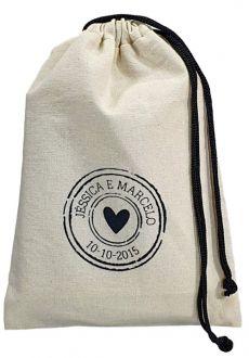 Saquinho de algodão para roupa  - personalizado em serigrafia - 20x30 - Linha Classic 7107