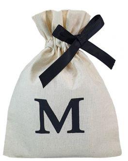 Saquinho de algodão personalizado para acessórios - 12x18 - impressão em serigrafia - fechamento fita de gorgurão - Linha Classic  4173