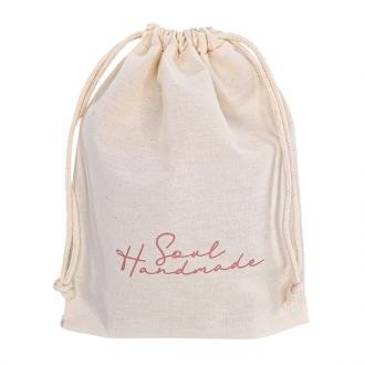 Saquinho de algodão  personalizado para bolsa - 40 x 60 -  impressão da logomarca em serigrafia - Linha Classic  7180