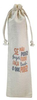 Saquinho de algodão personalizado para canudo 07x20 - impressão em serigrafia  - Linha Classic 4411