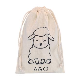 Saquinho de algodão personalizado para lembrancinhas - 15x20 - impressão em serigrafia - Linha Classic 72391