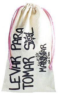 Saquinho de algodão  personalizado para perfume - 15x30 - impressão em serigrafia -  Linha Classic 13341