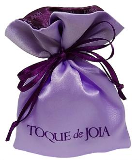 Saquinho de cetim personalizado 10 x 15 - Borda gola colorida  -  Linha Exclusive 7032