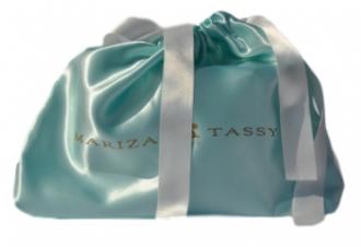 Saquinho de cetim personalizada para bolsa - 30x30 - impressão em serigrafia -   Linha Luxo 7007